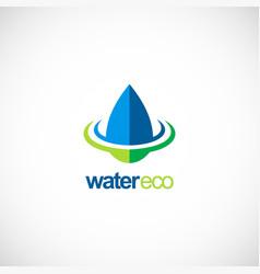 water drop ecology bio logo vector image