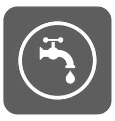 Water Tap Flat Squared Icon vector