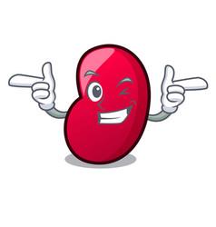 Wink jelly bean character cartoon vector