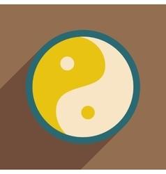 Yin yang symbol of harmony vector