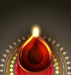 Beautiful diwali diya background vector image vector image
