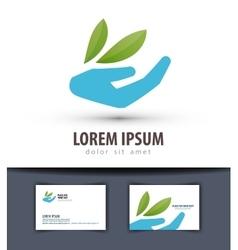 ecology logo design template farm or vector image vector image