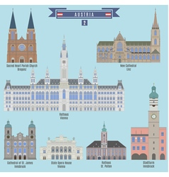 Famous Places in Austri vector image vector image