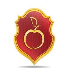 Golden apple vector