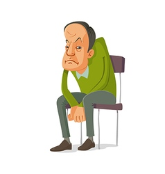 man sitting on a chair vector image vector image