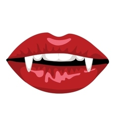 red lips of vampire vector image
