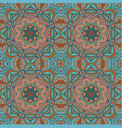 seamless floral ethnic motives mandala zentangl vector image vector image