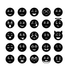 smiley faces icon collection vector image