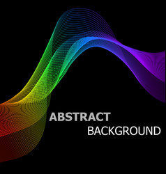abstract background with colorful lines wave vector image vector image