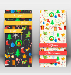 festive greeting vertical cards vector image vector image