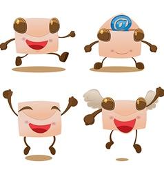 Mail Envelope Letter Cartoon Mascot vector image