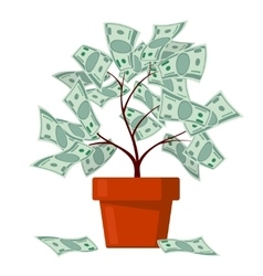 Money tree business banking abundance vector image vector image