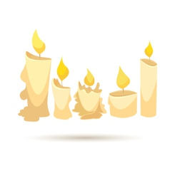 Set of candles isolated on a white backgrounds vector image