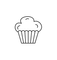 cupcake muffin line icon sign vector image