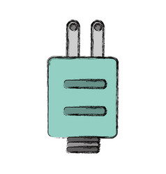 Isolated ecologic electric plug vector