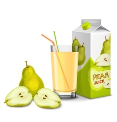 Pear juice set vector image vector image