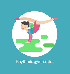rhythmic gymnastics icon vector image