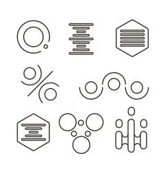 simple science logo set vector image vector image