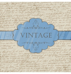 vintage style greeting card vector image vector image