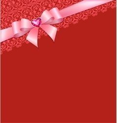 Card with bow vector image