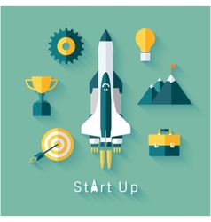 Concept of new business project startup vector image vector image