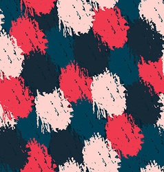 seamless pattern with paint effect vector image vector image