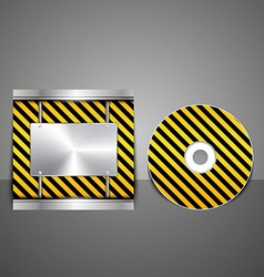 Technology CD cover design vector image