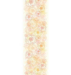 Warm flowers vertical seamless pattern background vector image