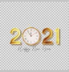 2021 happy new year symbol vector image