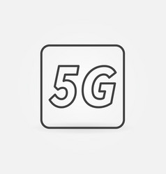 5g technology concept icon or sign in vector image