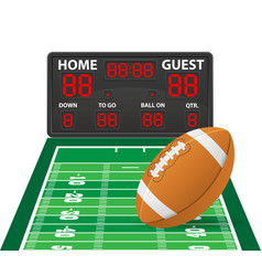 american football sports digital scoreboard vector image