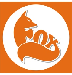 Animals logo fox vector