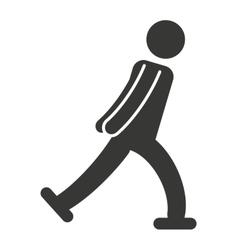 athlete sport figure silhouette vector image