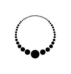 Beads on a stringicon beads vector