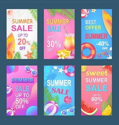 best offer sweet summer set vector image