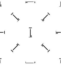 bicycle pump pattern seamless black vector image