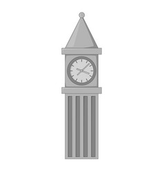 big ben in london icon monochrome vector image