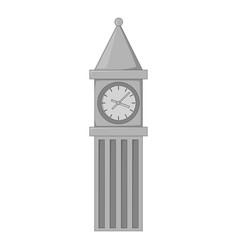 big ben in london icon monochrome vector image