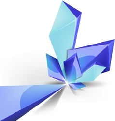 Blue crystal background vector