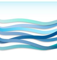 Blue wavy stripes vector
