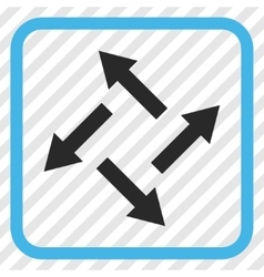 Centrifugal Arrows Icon In a Frame vector