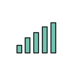 chart statistics internet flat line style vector image
