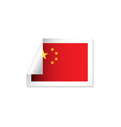 China label flags template design vector
