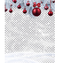 Christmas and new year card with fir branches with vector
