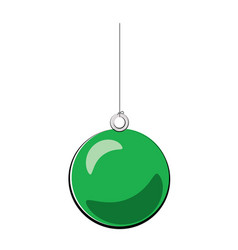 christmas ball green cartoon vector image