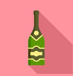 classic champagne icon flat style vector image