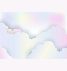 cloudy rainbow color pastel sky background paper vector image