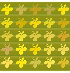 Clover flower pattern vector