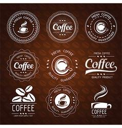coffee label2 vector image