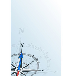 Compass north background vector